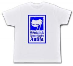 """Zum Fairtrade T-Shirt """"Königlich Bayerische Antifa (KBA)"""" für 19,00 € gehen."""