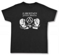 "Zum Fairtrade T-Shirt ""Libertad presos obreros!"" für 17,00 € gehen."