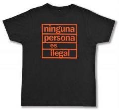"""Zum Fairtrade T-Shirt """"ninguna persona es ilegal"""" für 16,57 € gehen."""