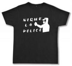 """Zum Fairtrade T-Shirt """"Nique la police"""" für 17,00 € gehen."""