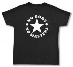 """Zum Fairtrade T-Shirt """"No Gods No Masters"""" für 16,57 € gehen."""