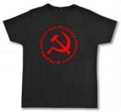 """Zum Fairtrade T-Shirt """"Pegida rasieren und Verstand einhämmern"""" für 16,57 € gehen."""
