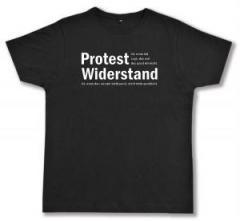 """Zum Fairtrade T-Shirt """"Protest ist, wenn ich sage, das und das passt mir nicht. Widerstand ist, wenn das, was mir nicht passt, nicht mehr geschieht."""" für 17,00 € gehen."""