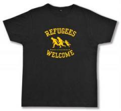"""Zum Fairtrade T-Shirt """"Refugees welcome"""" für 17,00 € gehen."""
