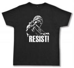"""Zum Fairtrade T-Shirt """"Resist!"""" für 17,00 € gehen."""