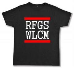 """Zum Fairtrade T-Shirt """"RFGS WLCM"""" für 17,00 € gehen."""