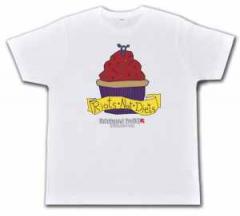 """Zum Fairtrade T-Shirt """"Riots not diets Muffin Linksjugend"""" für 19,50 € gehen."""