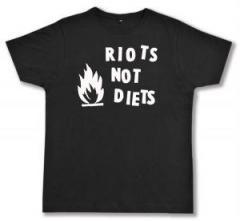 """Zum Fairtrade T-Shirt """"Riots not diets"""" für 17,00 € gehen."""