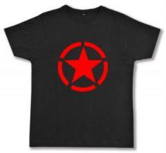 """Zum Fairtrade T-Shirt """"Roter Stern im Kreis (red star)"""" für 17,00 € gehen."""
