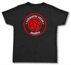 """Zum Fairtrade T-Shirt """"Schwarze Szene Nazifrei - Rotes Pentagramm"""" für 20,47 € gehen."""