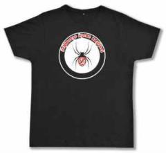 """Zum Fairtrade T-Shirt """"Schwarze Szene Nazifrei - Spinne"""" für 20,47 € gehen."""