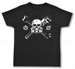 """Zum Fairtrade T-Shirt """"Skull - Gasmask"""" für 16,57 € gehen."""
