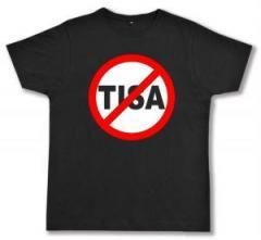 """Zum Fairtrade T-Shirt """"Stop TISA"""" für 16,57 € gehen."""
