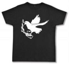 """Zum Fairtrade T-Shirt """"Taube mit Molli"""" für 16,57 € gehen."""
