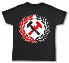 "Zum Fairtrade T-Shirt ""Working Class Hammer (rot/schwarz)"" für 16,57 € gehen."