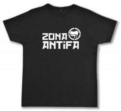 """Zum Fairtrade T-Shirt """"Zona Antifa"""" für 17,00 € gehen."""