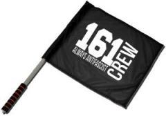 """Zum/zur  Fahne / Flagge (ca. 40x35cm) """"161 Crew Always Antifascist"""" für 11,00 € gehen."""