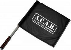 """Zum/zur  Fahne / Flagge (ca. 40x35cm) """"A.C.A.B. - All cops are bastards"""" für 11,00 € gehen."""