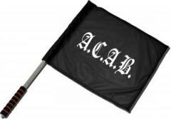 """Zum/zur  Fahne / Flagge (ca. 40x35cm) """"A.C.A.B. Fraktur"""" für 11,00 € gehen."""