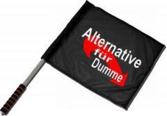 """Zum/zur  Fahne / Flagge (ca. 40x35cm) """"Alternative für Dumme"""" für 11,00 € gehen."""
