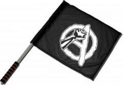 """Zum/zur  Fahne / Flagge (ca 40x35cm) """"Anarchie Faust"""" für 11,00 € gehen."""