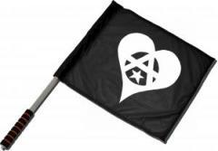 """Zum/zur  Fahne / Flagge (ca. 40x35cm) """"Anarchie Herz"""" für 11,00 € gehen."""