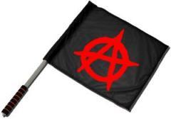 """Zum/zur  Fahne / Flagge (ca. 40x35cm) """"Anarchie (schwarz)"""" für 11,00 € gehen."""