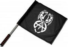 """Zum/zur  Fahne / Flagge (ca 40x35cm) """"Animal Liberation Front (ALF) Horses"""" für 11,00 € gehen."""
