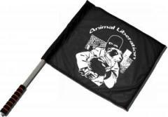 """Zum/zur  Fahne / Flagge (ca 40x35cm) """"Animal Liberation (Hund)"""" für 11,00 € gehen."""