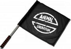 """Zum/zur  Fahne / Flagge (ca 40x35cm) """"Animal Liberation"""" für 11,00 € gehen."""