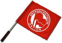 """Zum/zur  Fahne / Flagge (ca. 40x35cm) """"Antifaschistische Aktion (1932, rot/rot)"""" für 11,00 € gehen."""