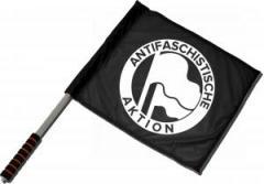 """Zum/zur  Fahne / Flagge (ca. 40x35cm) """"Antifaschistische Aktion (Original von 1932 in weiß)"""" für 11,00 € gehen."""