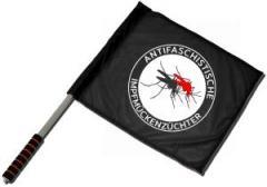 """Zum/zur  Fahne / Flagge (ca. 40x35cm) """"Antifaschistische Impfmückenzüchter"""" für 11,00 € gehen."""