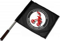 """Zum/zur  Fahne / Flagge (ca. 40x35cm) """"Antifaschistische Rollatoren Kavallerie"""" für 11,00 € gehen."""