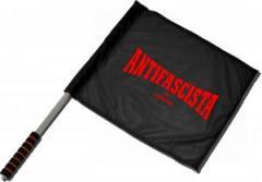 """Zum/zur  Fahne / Flagge (ca 40x35cm) """"Antifascista siempre"""" für 11,00 € gehen."""