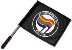 """Zum/zur  Fahne / Flagge (ca. 40x35cm) """"Antihomophobe Aktion"""" für 11,00 € gehen."""