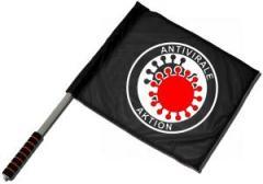 """Zum/zur  Fahne / Flagge (ca. 40x35cm) """"Antivirale Aktion"""" für 10,72 € gehen."""