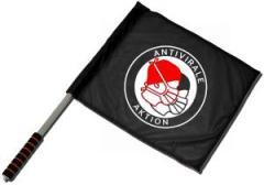 """Zum/zur  Fahne / Flagge (ca. 40x35cm) """"Antivirale Aktion - Mundmasken"""" für 11,00 € gehen."""