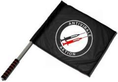 """Zum/zur  Fahne / Flagge (ca. 40x35cm) """"Antivirale Aktion - Spritzen"""" für 11,00 € gehen."""