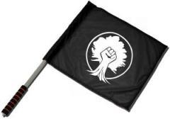 """Zum/zur  Fahne / Flagge (ca. 40x35cm) """"Baumfaust"""" für 11,00 € gehen."""