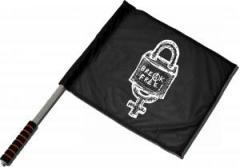 """Zum/zur  Fahne / Flagge (ca. 40x35cm) """"Break Free"""" für 11,00 € gehen."""