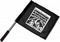 """Zum/zur  Fahne / Flagge (ca 40x35cm) """"Cross Border"""" für 11,00 € gehen."""