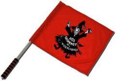 """Zum/zur  Fahne / Flagge (ca. 40x35cm) """"Das Gespenst des Widerstands"""" für 10,72 € gehen."""