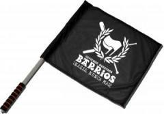 """Zum/zur  Fahne / Flagge (ca 40x35cm) """"Defiende nuestros Barrios"""" für 11,00 € gehen."""