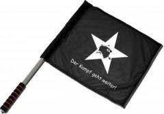"""Zum/zur  Fahne / Flagge (ca. 40x35cm) """"Der Kampf geht weiter!"""" für 11,00 € gehen."""