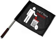 """Zum/zur  Fahne / Flagge (ca. 40x35cm) """"Do not trash humanity"""" für 13,00 € gehen."""