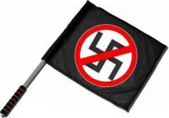 """Zum/zur  Fahne / Flagge (ca. 40x35cm) """"Durchgestrichenes Hakenkreuz"""" für 11,00 € gehen."""