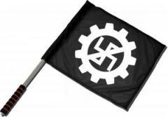 """Zum/zur  Fahne / Flagge (ca 40x35cm) """"EBM gegen Nazis"""" für 11,00 € gehen."""