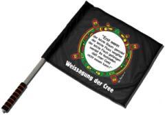 """Zum/zur  Fahne / Flagge (ca. 40x35cm) """"Erst wenn der letzte Baum gerodet...."""" für 11,00 € gehen."""
