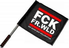 """Zum/zur  Fahne / Flagge (ca. 40x35cm) """"FCK FR.WLD"""" für 11,00 € gehen."""